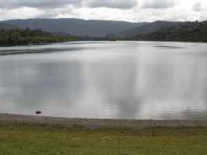 Eildon pondage close to full. March 2014.