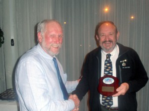 President Russ presents Life Membership to David Johnson.